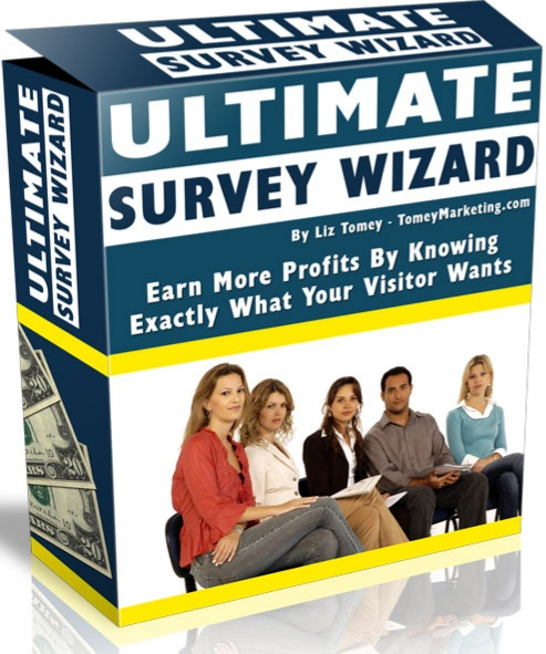 Ultimate Survey Wizard earn more profit by knowing exactly what your visitors want