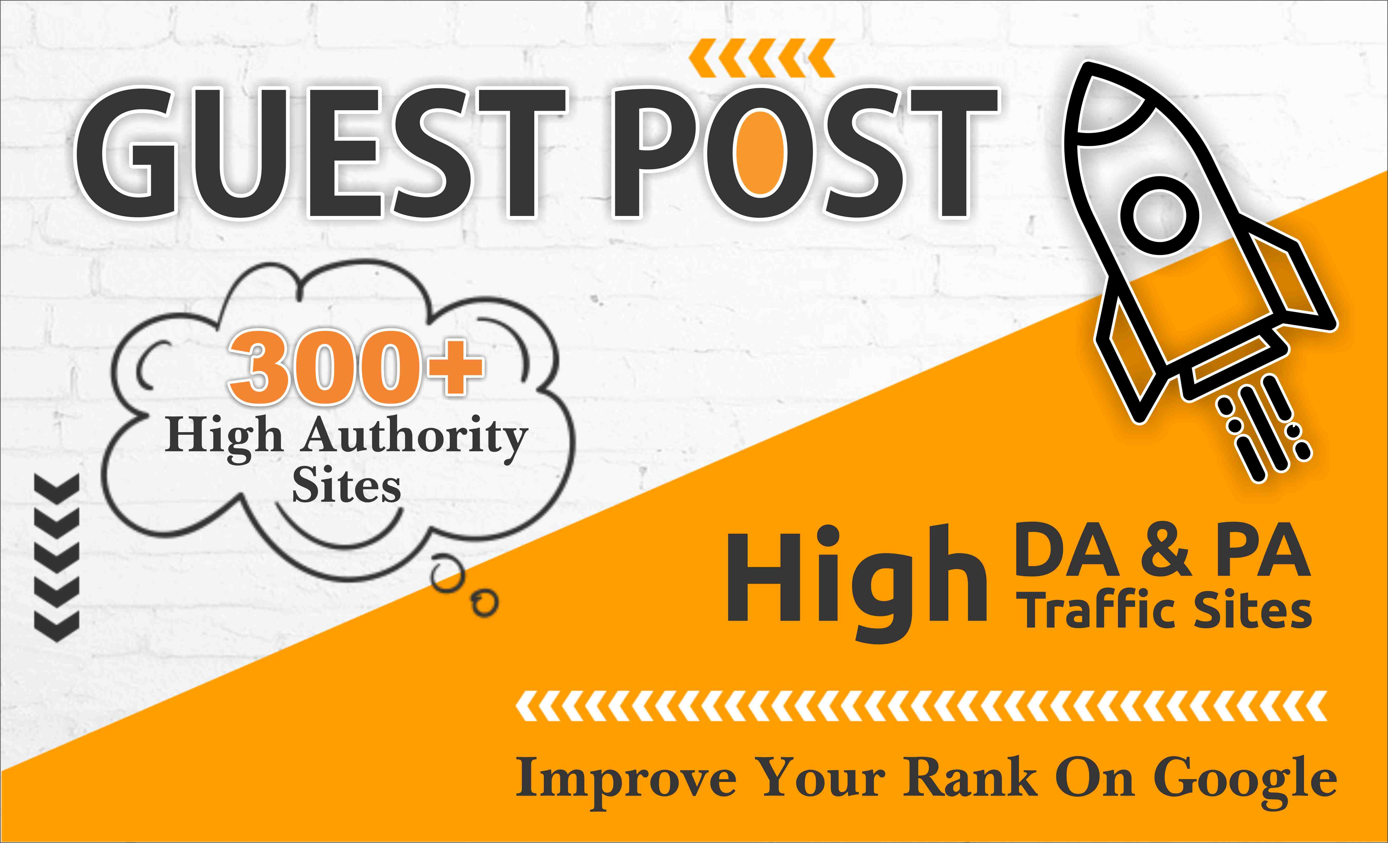 300 high quality guest posts dofollow link high da sites