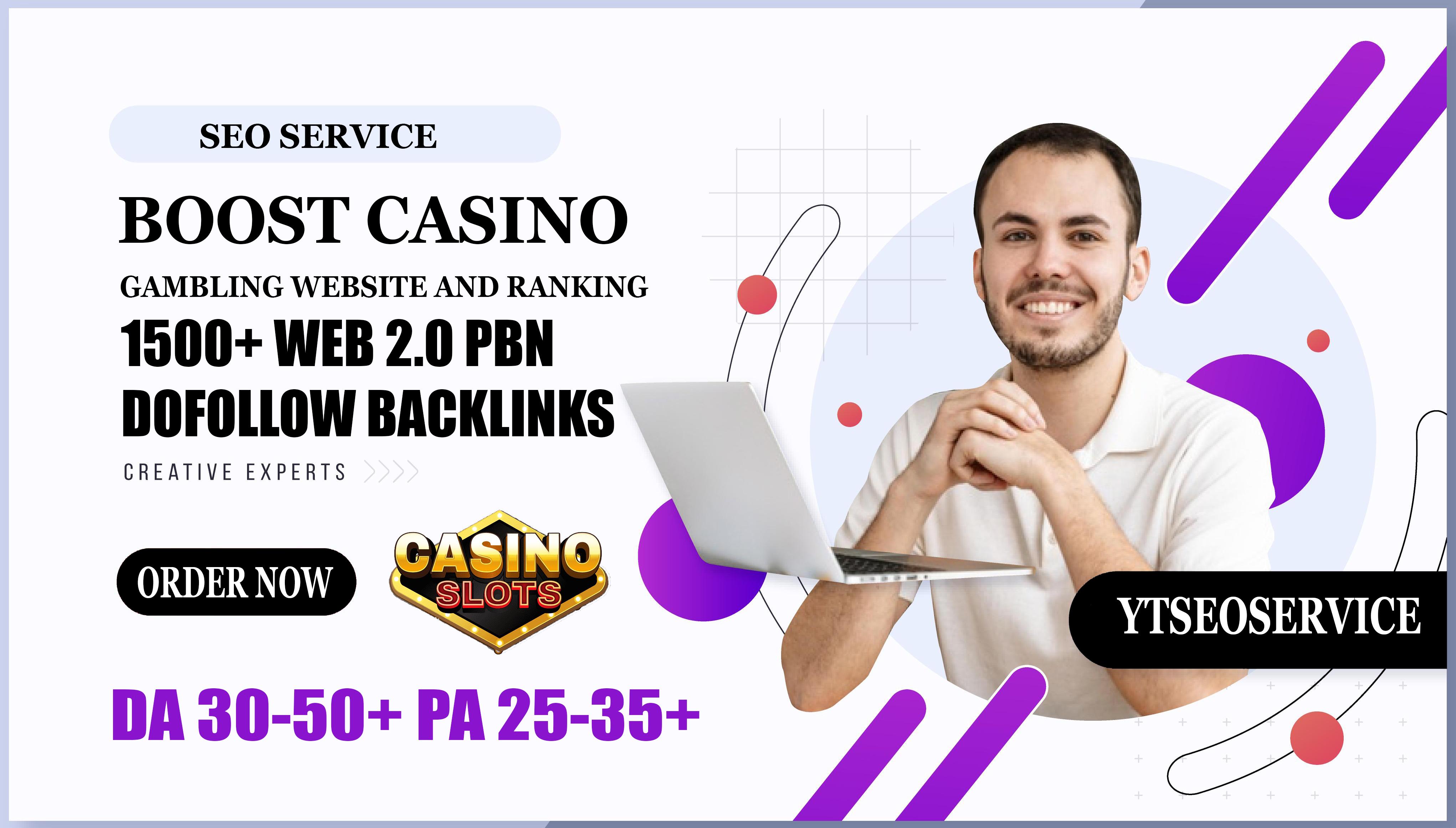 1500+ Web 2.0 PBN Dofollow Backlinks Boost Casino Gambling Website And Ranking