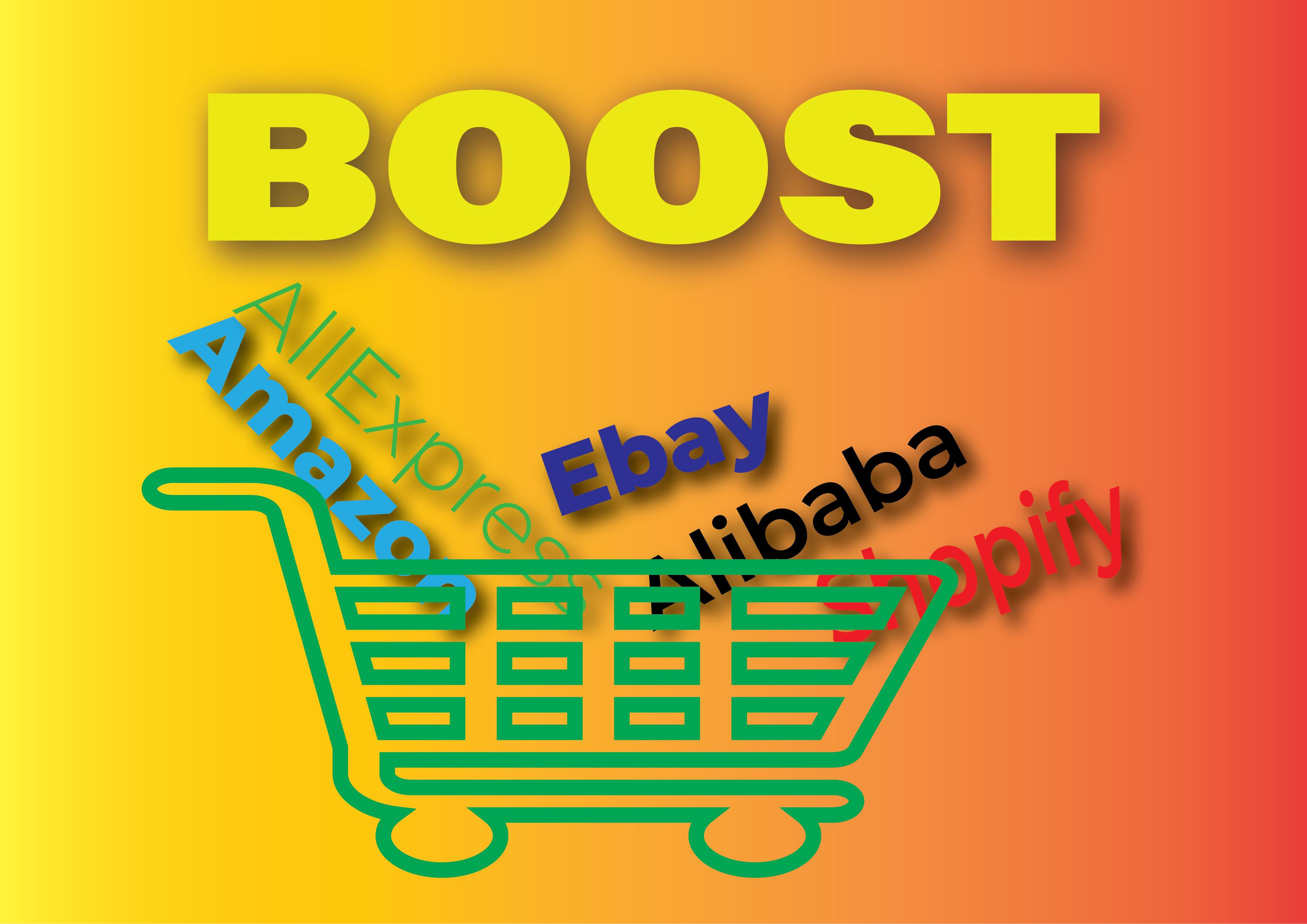 promote any Amazon,  eBay,  Alibaba,  AliExpress or any other e-commerce store