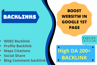 200 high da pa backlink to reach your site in google 1st page