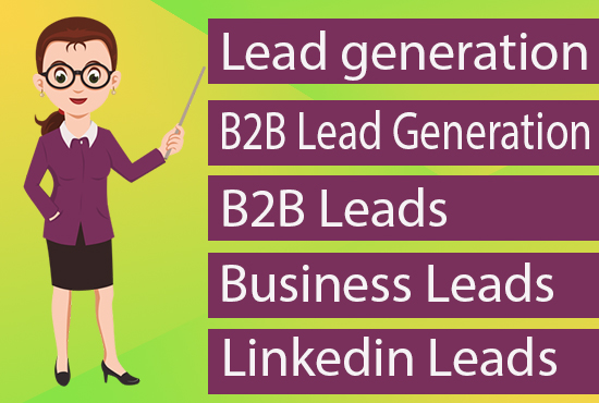 I will assist you B2B Lead Generation and prospectus list building.