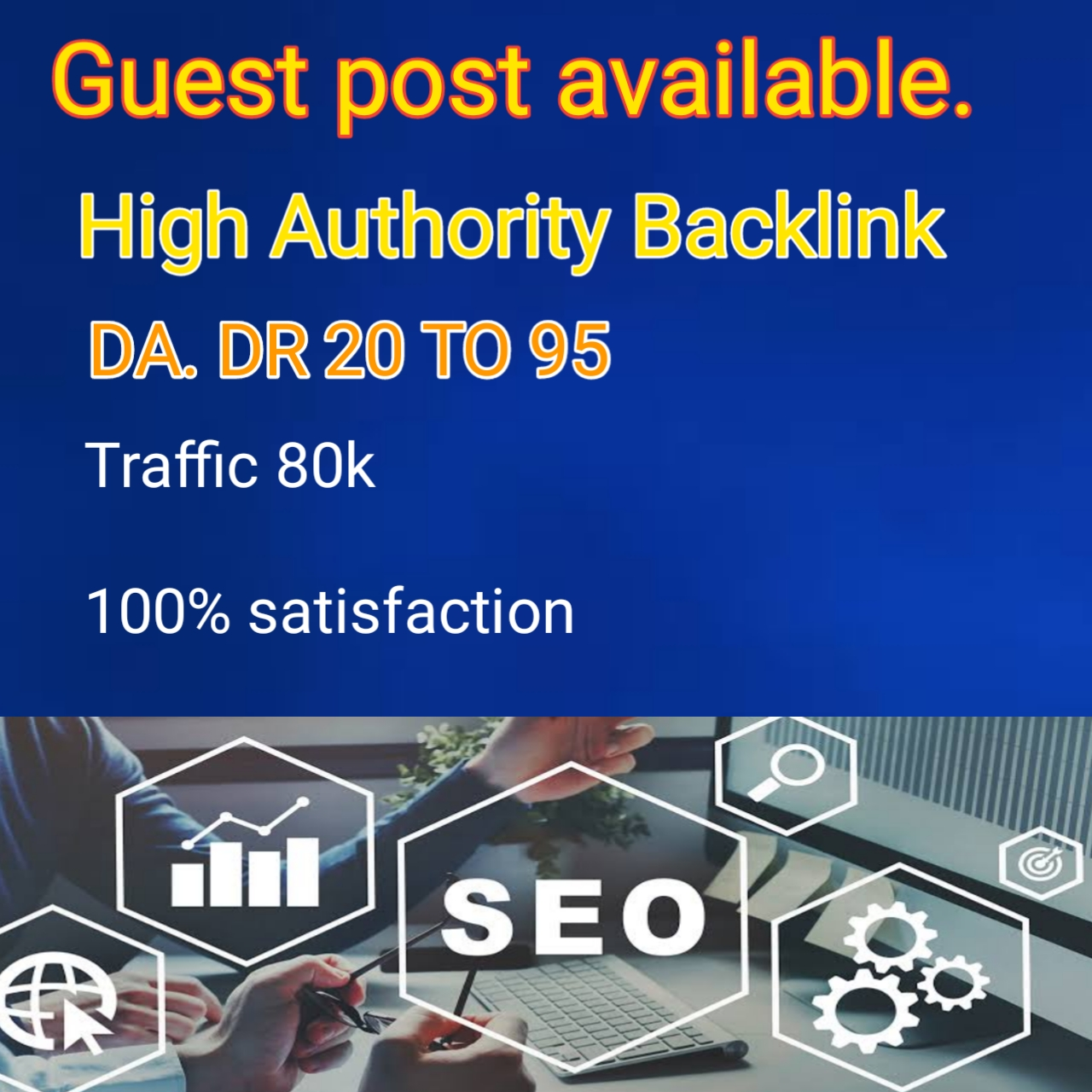 High authority Guest post Backlink sites available
