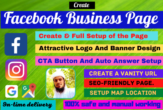 I will create Attractive Facebook Business Page Setup