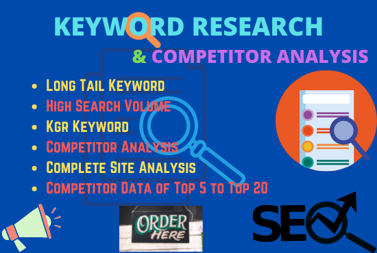 I will provide strategic keyword research and best competitor analysis