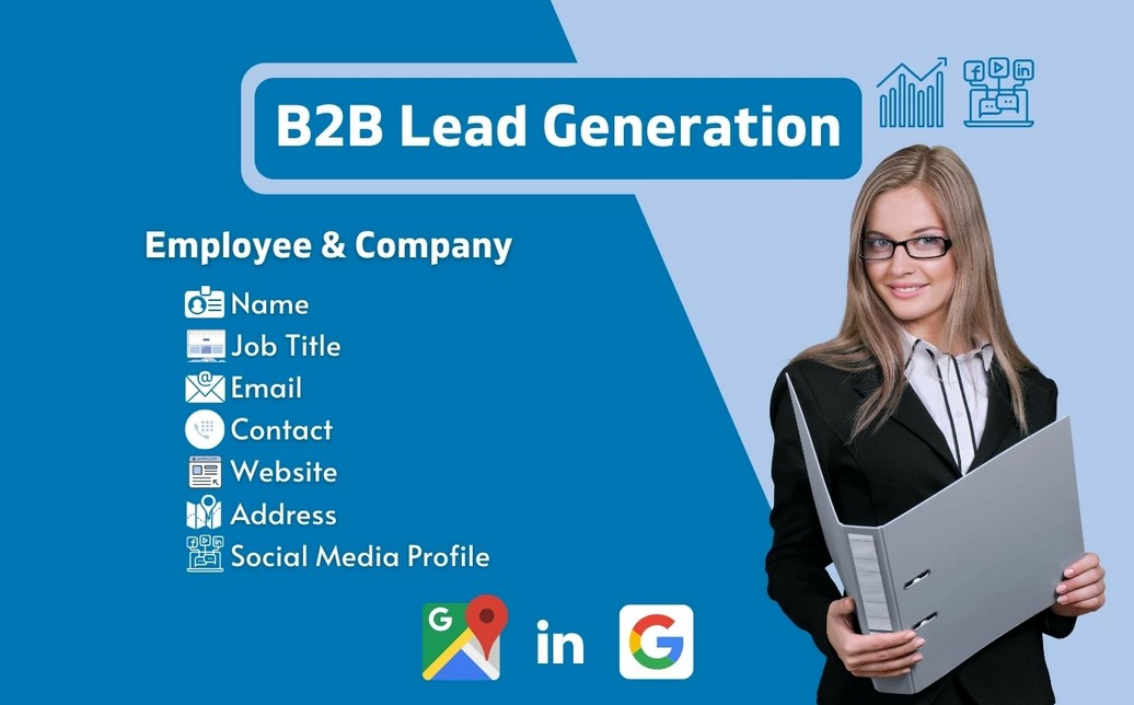 I will do targeted b2b lead generation,  lead prospecting and list building