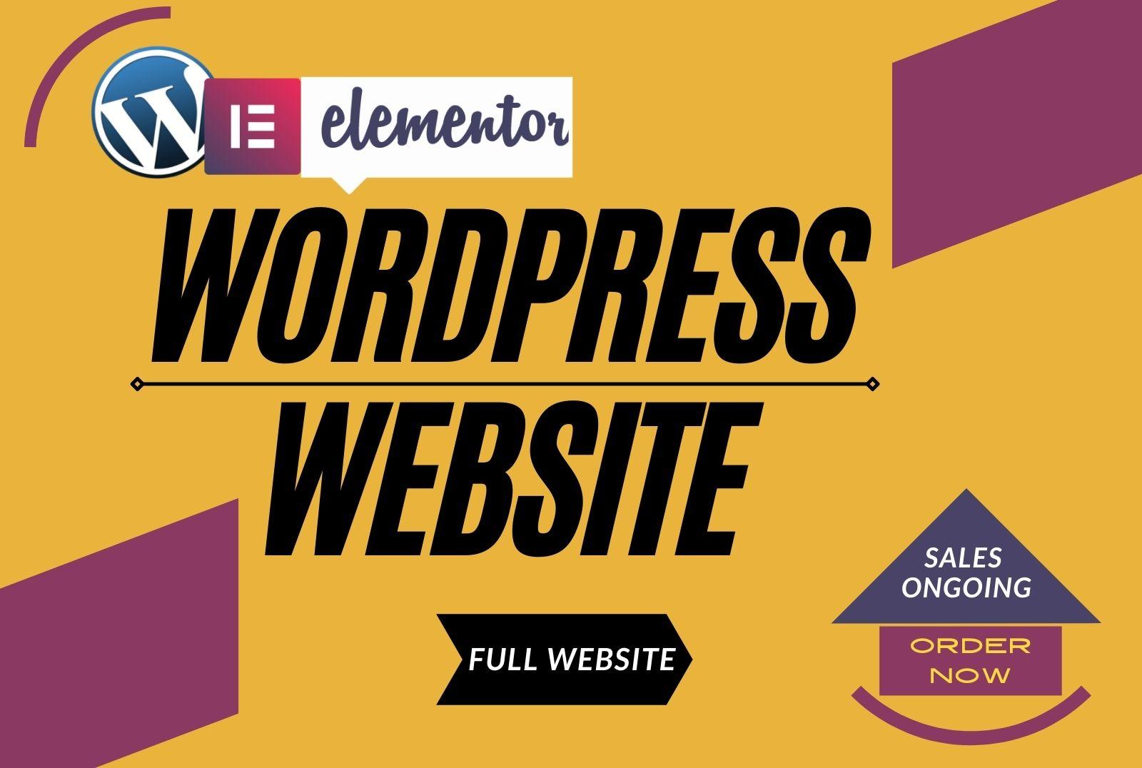 I will customize wordpress website responsive design with elementor pro