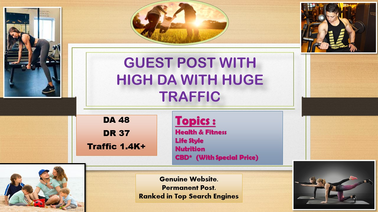 Guest Post Health and Fitness With High DA