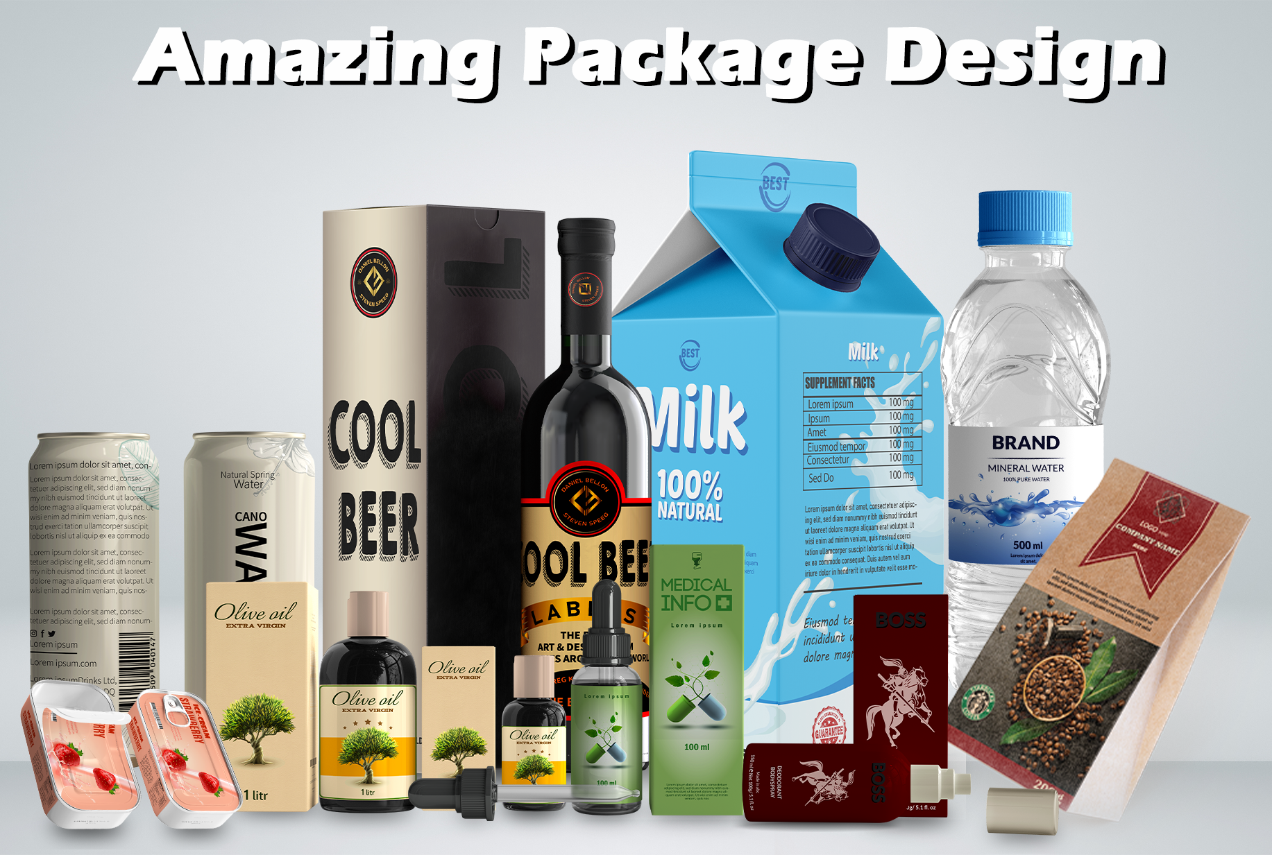 I will do product label and box design