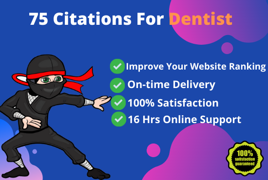 I will build 75 citations for dentist practice SEO