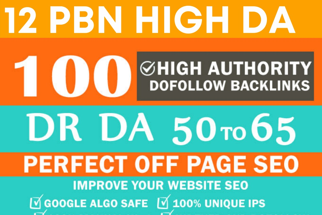 I will da 50 to 70 PBN dofollow backlinks for off page seo link building