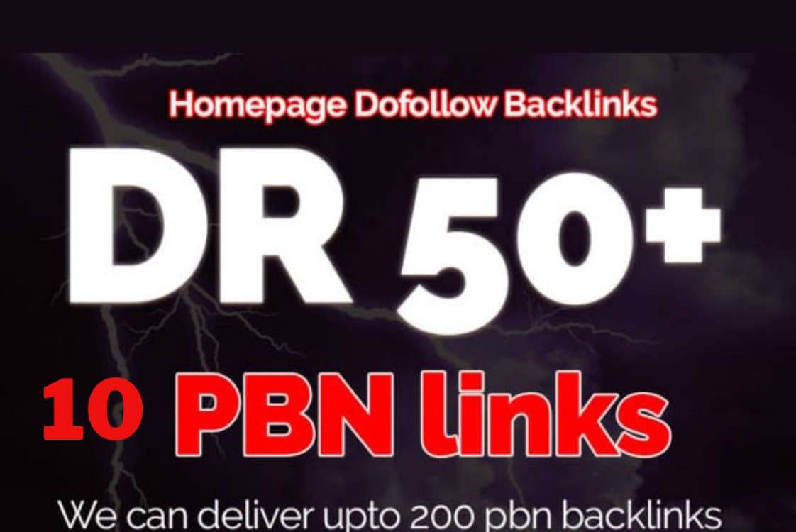 I will create DR 50 PBN Plus homepage permanent backlinks