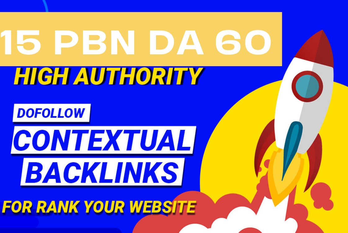 I will make DA 50 to 70 PBN dofollow backlinks for off page seo