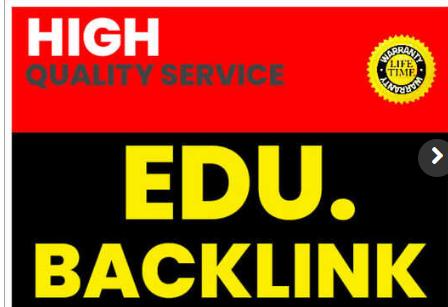 I will Create 300 high Quality Edu Backlinks