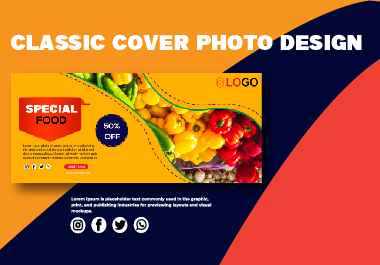 I will professional eye-catching cover photo design