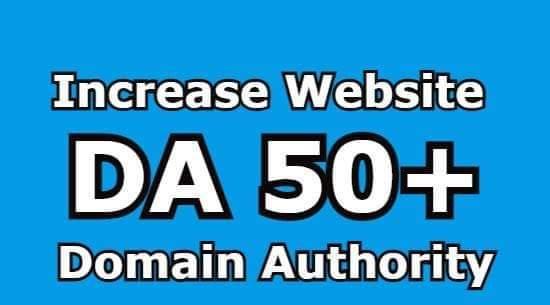 150 DA Domain Authority 50+ 100 percent do-follow links