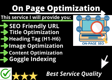 Rank your website in Goggle first page On Page SEO Service