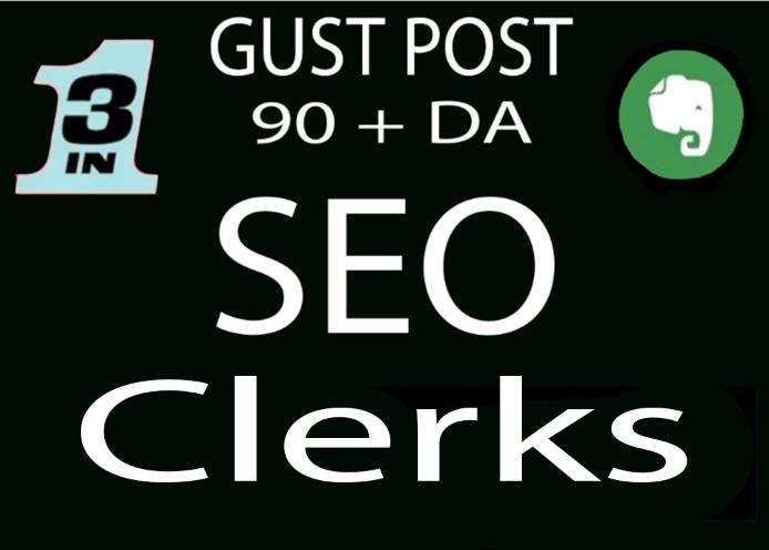 Write and publish 10 Dofollow Guest Post High Authority website unique content low spam score
