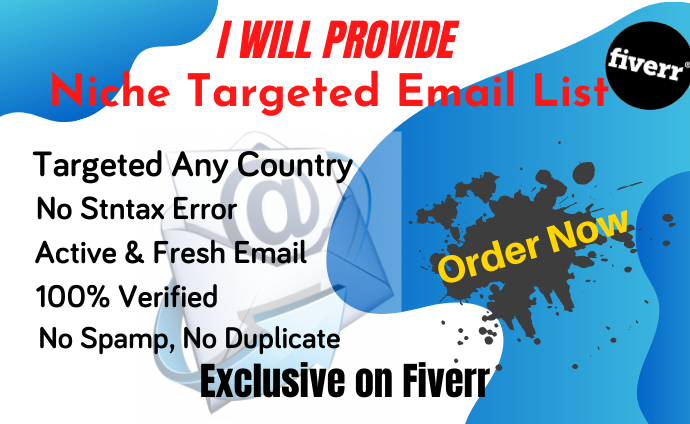 I will provide you niche targeted email list for your email list
