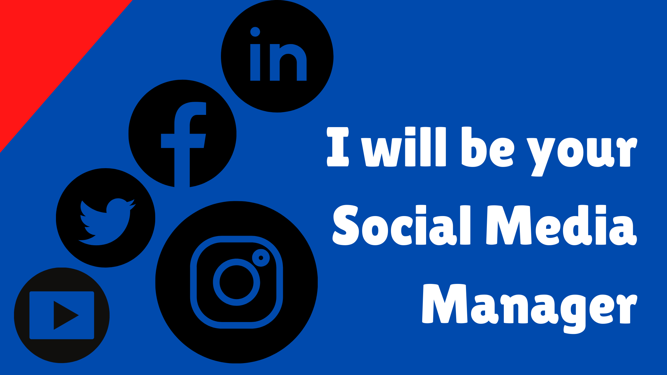 I will be your social media manager I will post two banner everyday on any 3 social media platform