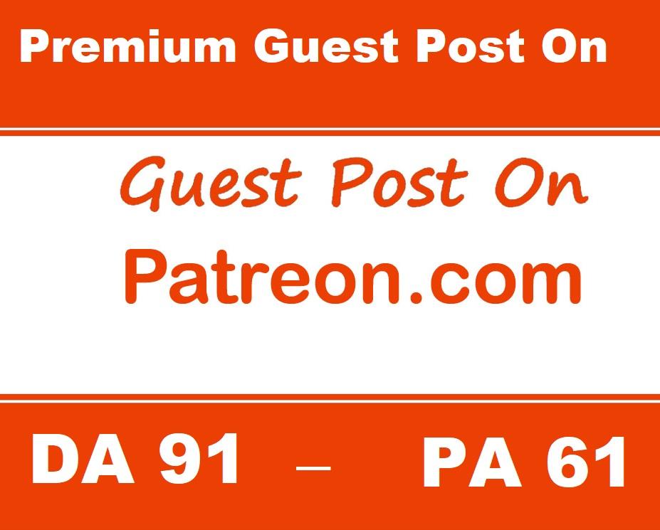 Write & publish premium guest post on Patreon. com DA91