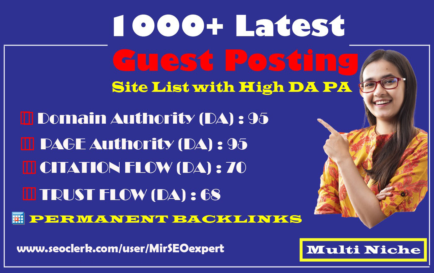 I will provide guest post dofollow backlinks