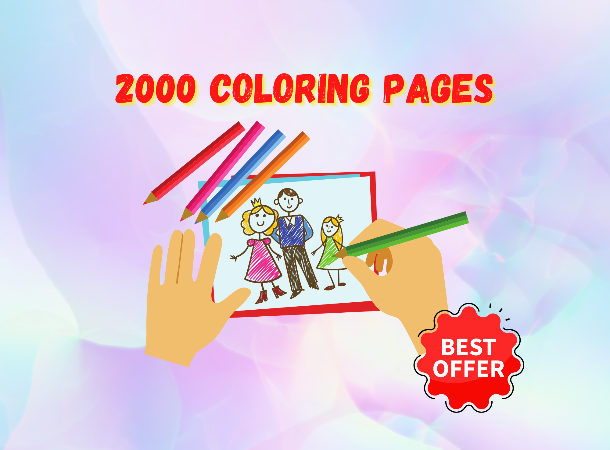 I will deliver to you 2000 coloring pages for kids Self Publishing