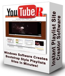 YouTubeR Playlist CreatorUsing this new software,  you can now create killer looking YouTube Playlist