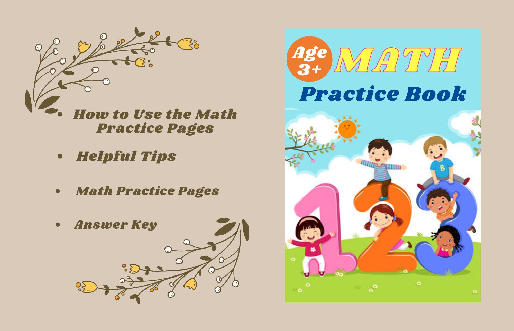 Preschool Math Book For Kids Digital Download