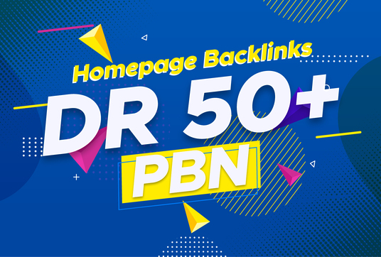 I will 50 PBN Dr50+ Permanent Homepage Dofollow Backlinks