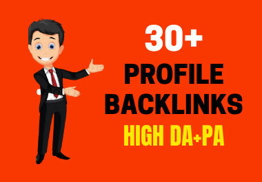 I will manually create 30 pr9 authority SEO profile backlinks