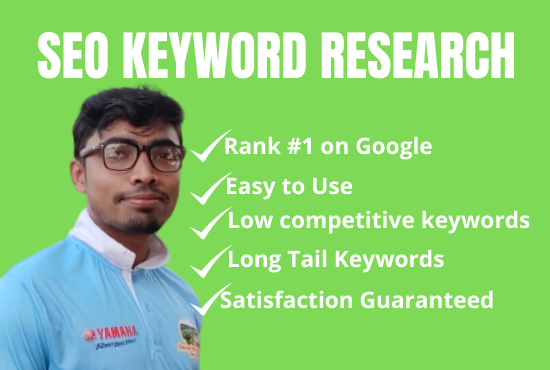 I will do seo keyword research and competitor analysis with on page seo