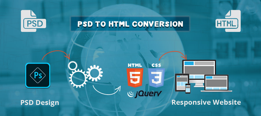 I will create your PSD or xd file into an HTML web template
