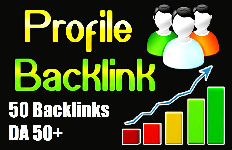 I will do 50 DOFOLLOW high DA PA profile backlinks