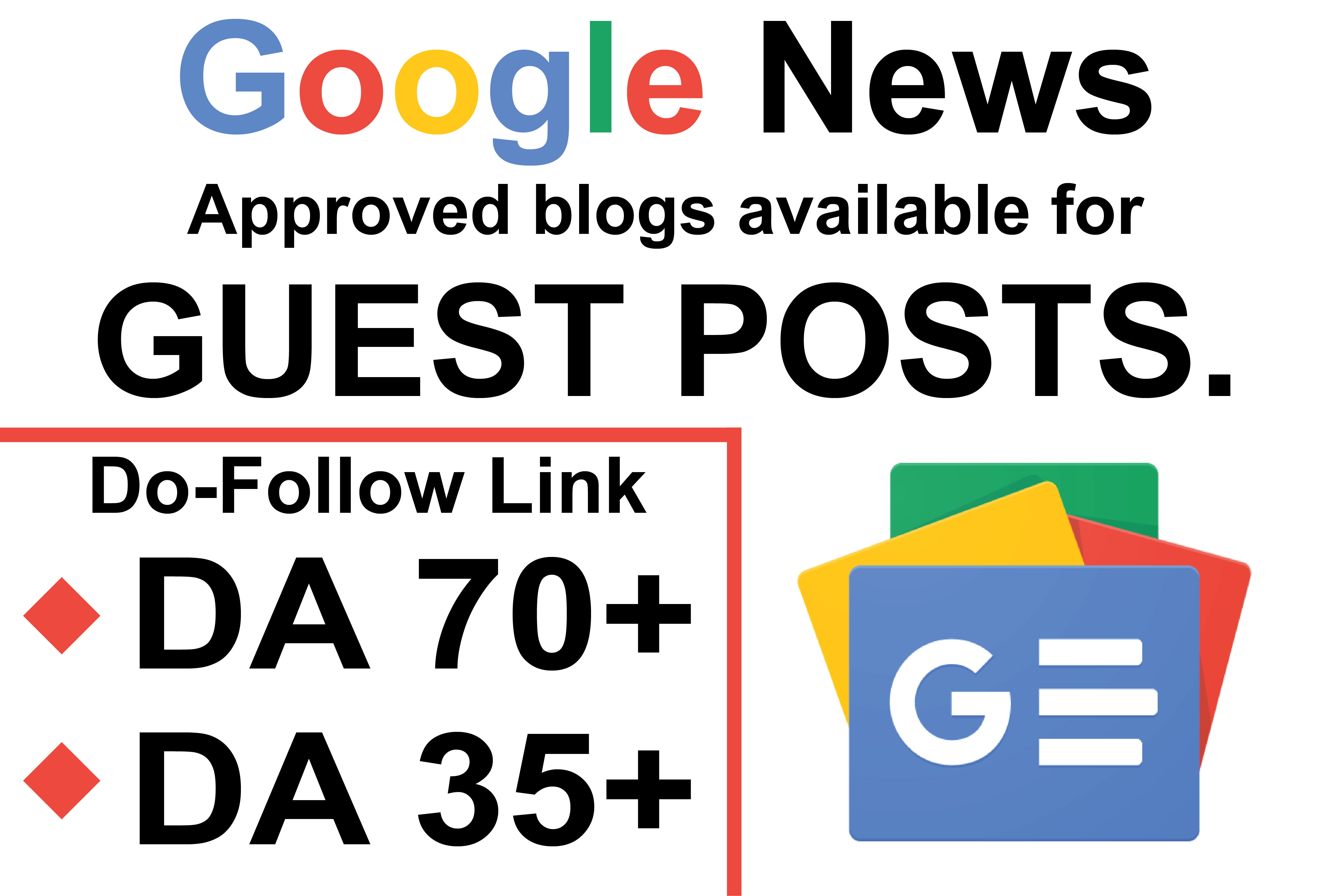 I will do a guest post on da 70 google news approved site