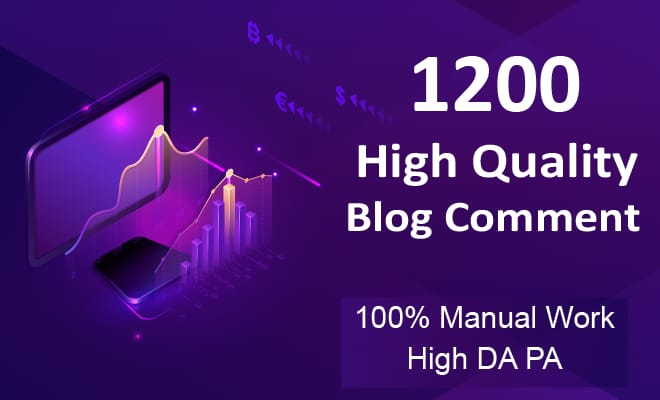 I will create 1200 Manually Dofollow Blog Comments Backlinks High Quality
