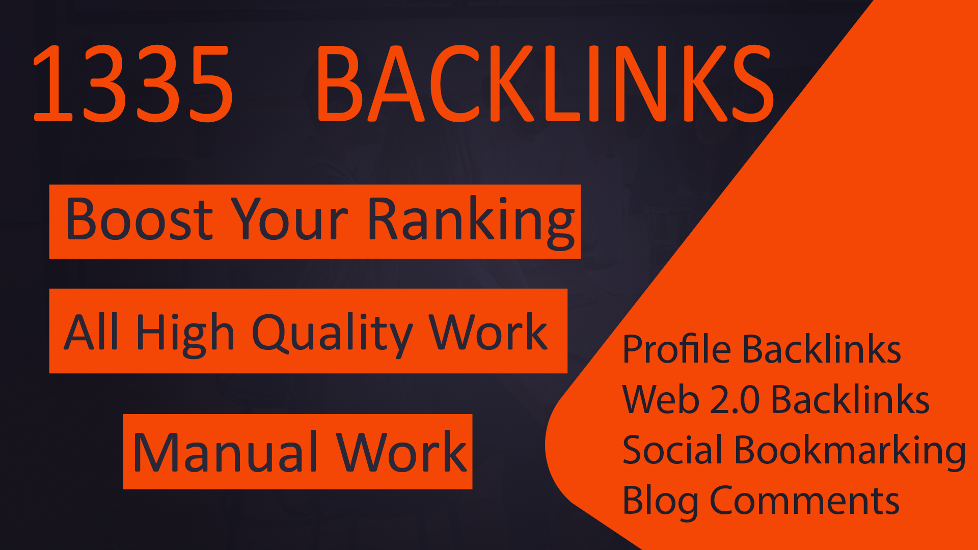 Google 1st page by contextual 1335+ Link Building With All-in-One High PR Quality Backlinks Package