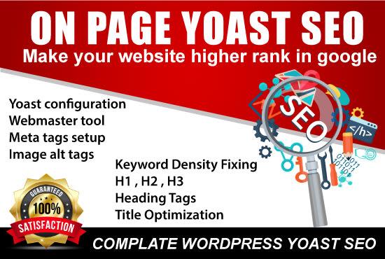 I will provide wordpress onpage SEO service for google ranking