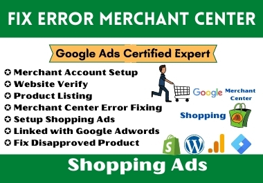 Fix google merchant center account issue run shopping ads campaign