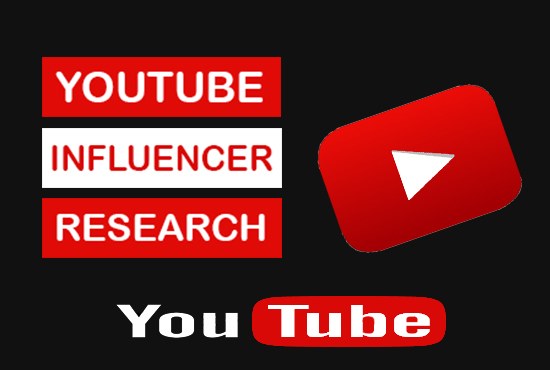 I will find Youtube Influencer details for your niche
