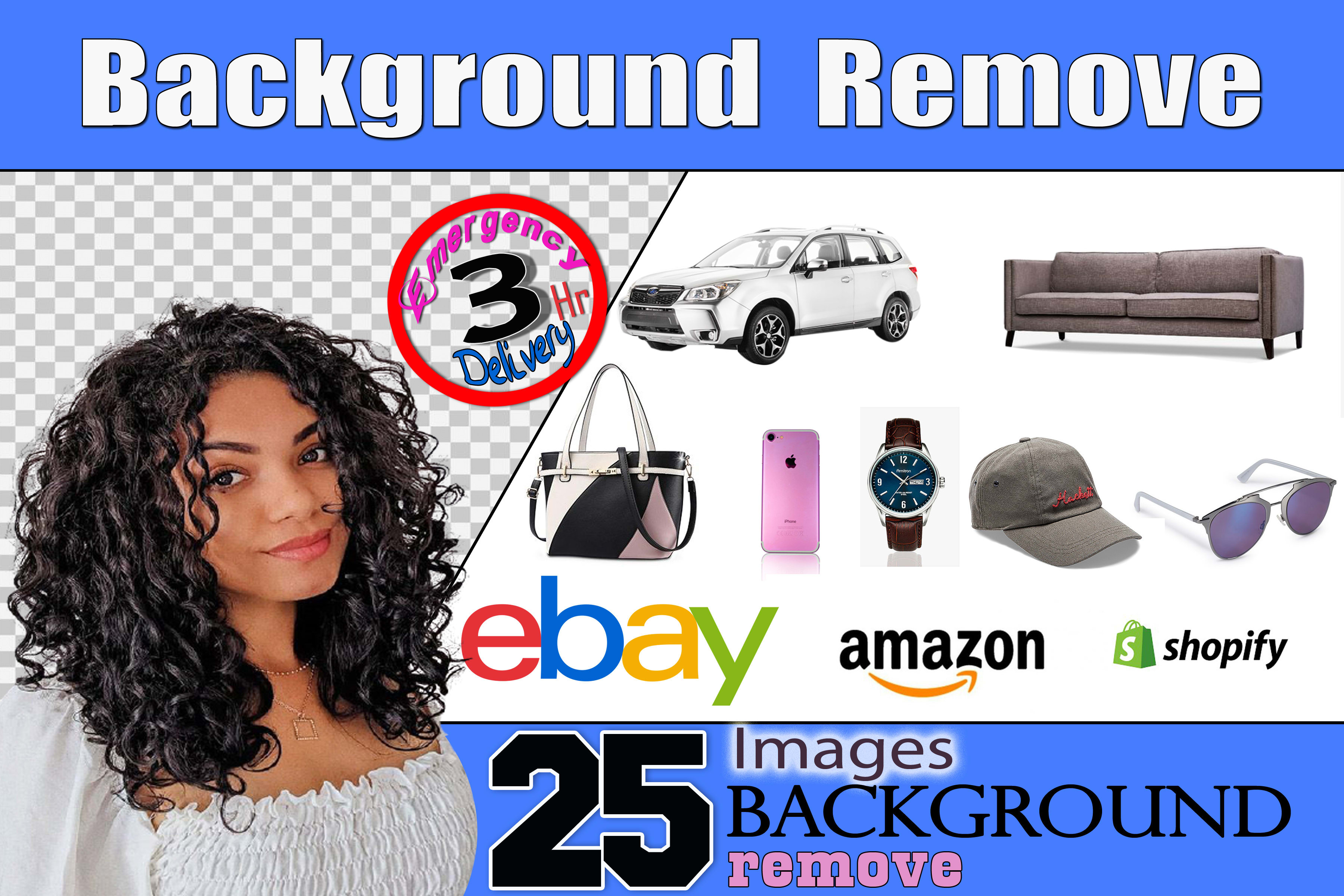 I will do image background removal and amazon listing