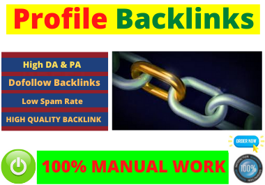 i will do 80 dofollow profile Backlinks high authority Website Permanent backlink manual link