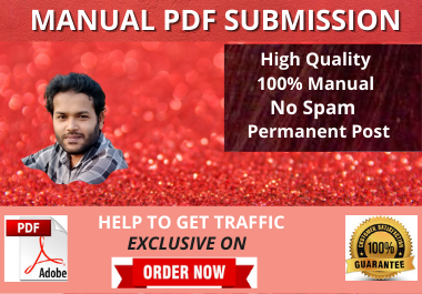 Live 80 PDF Submission dofollow backlinks High Authority website low spam score