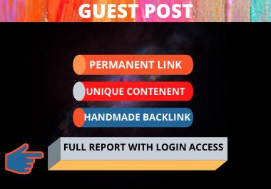 10 Guest Posts Dofollow Backlinks high da/pa unique content high authority website
