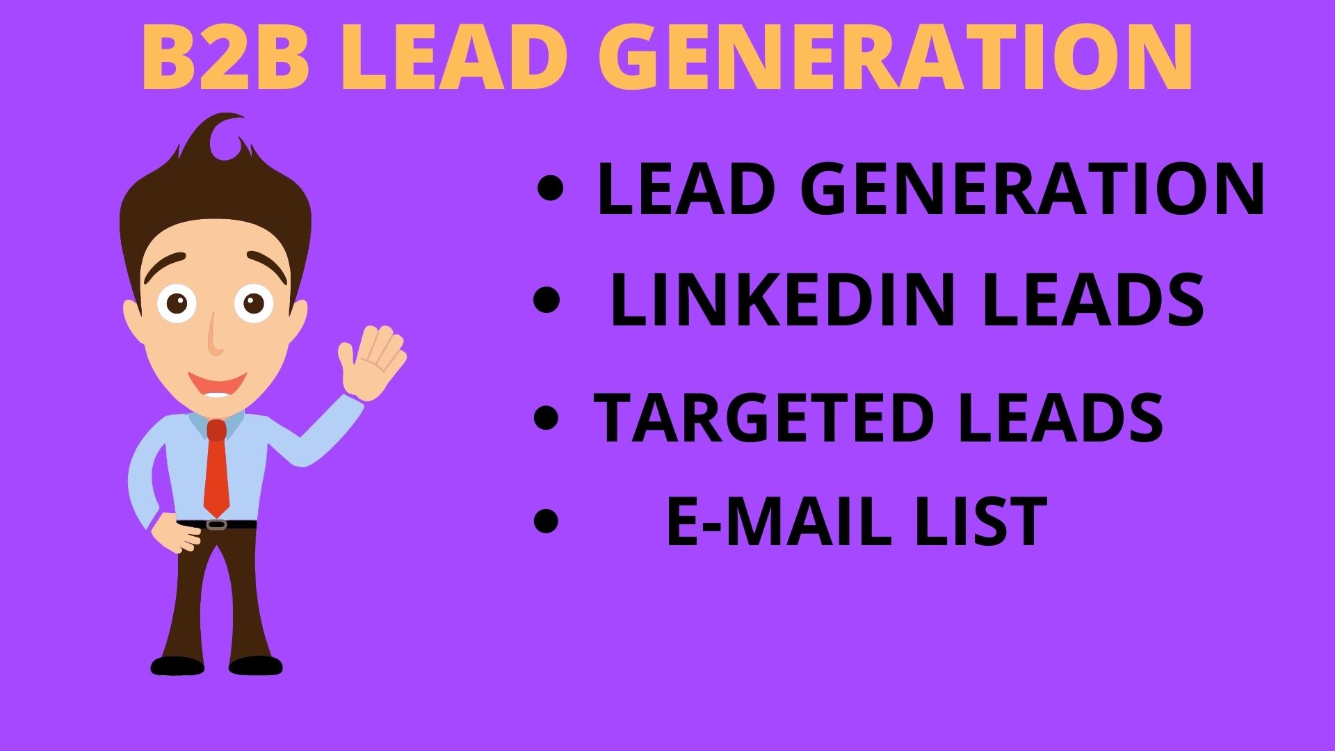 I will do b2b lead generation and targeted leads