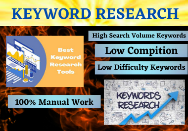 I will provide 20 keyword research SEO with Low competitor Analysis,  rank in google your website