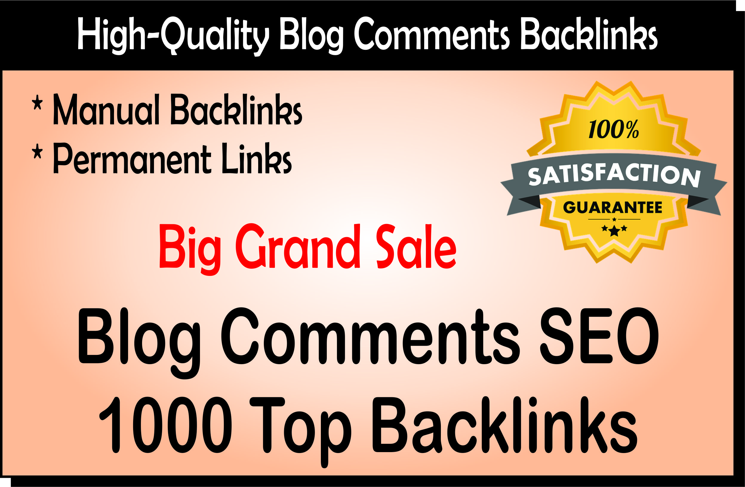 I Will Provide 1000 SEO Blog Comment Backlinks Low Spam Fast Index