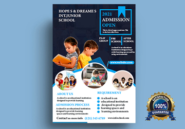 I will design professional flyer or poster