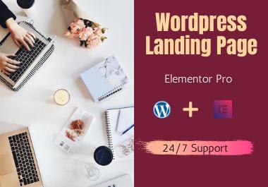 I will design wordpress landing page, elementor or elementor pro landing page