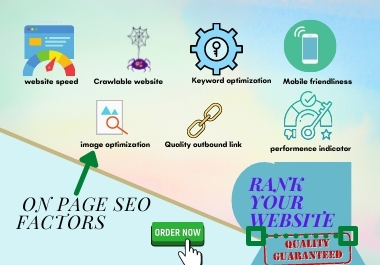 Rank your website on first page and on page SEO optimization
